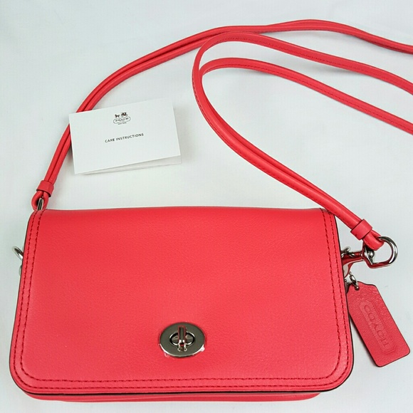 coach coach legacy penny crossbody bag in pink from