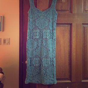 Free People Bodycon Teal Dress