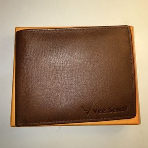 New faux leather brown men's wallet