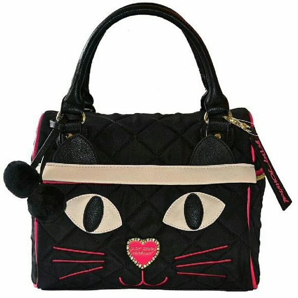 Betsey Johnson Bags Critter Speedy Cat Lunch Tote Poshmark