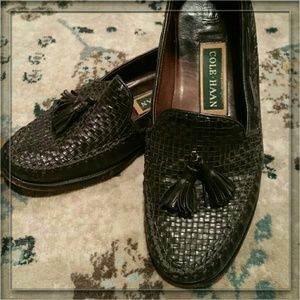 Cole Haan Shoes - Cole Haan Tasseled Woven Leather Loafers