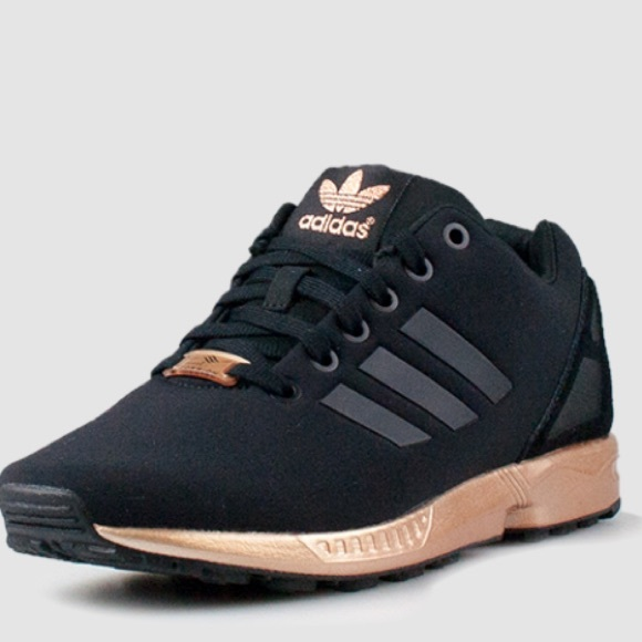 adidas black womens torsion zx flux sneakers