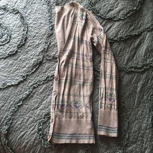RARE Mossimo Supply Co. Grey aztec tribal cardigan