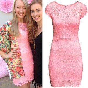 Dresses & Skirts - Bubble gum pink lace dress