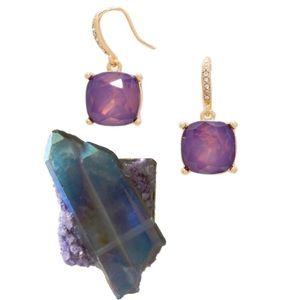Amethyst Opal Drop Earrings
