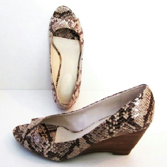 Studio Paolo Shoes - Shoes Brown Beige Reptile Snake size 7.5