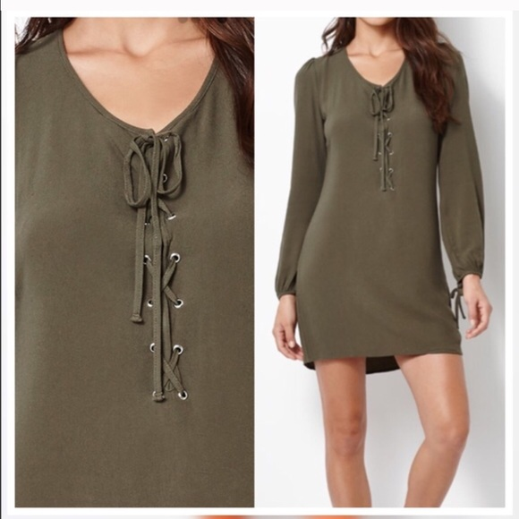 24ee19d1a48b Kendall   Kylie Long Sleeve Lace-up Dress NWT