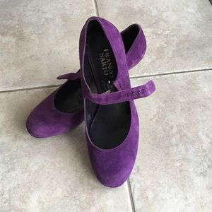 NWOT Franco Sarto Purple Suede Pumps - size 7