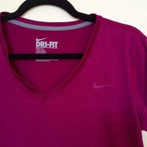 Magenta Nike DriFit Shirt