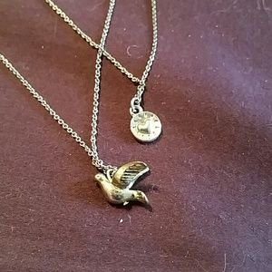 Double strand Bird Necklace