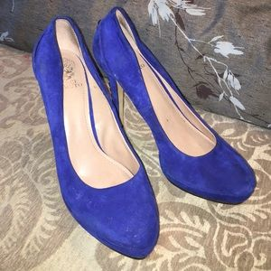 New blue heels (never worn)