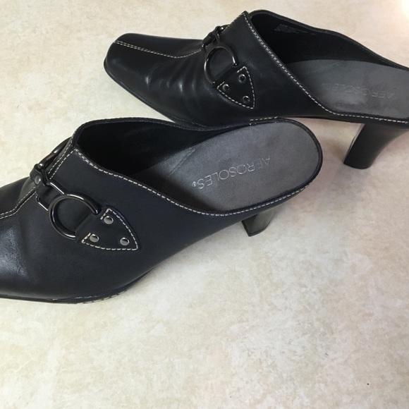 AEROSOLES Shoes | Black Mules | Poshmark