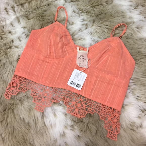 3e100fadfb2 Free People One Geo Lace Bralette   Crop Top