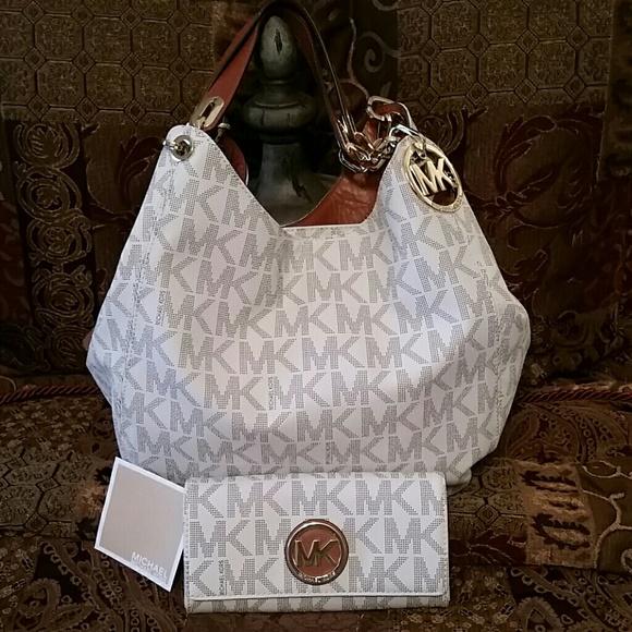 e5435ee161db5d STUNNING Michael Kors Fulton Vanilla Bag & Wallet.  M_56c79038d14d7b761a00a90e