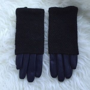Cool Leather wool gloves
