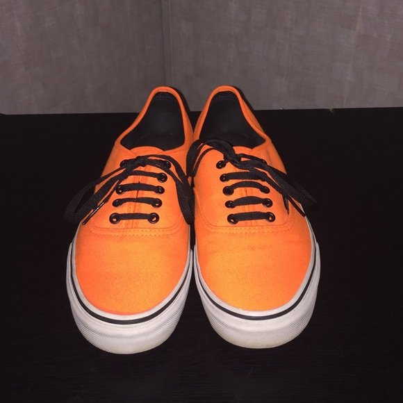 Mens Vans Off The Wall Neon Orange Shoes