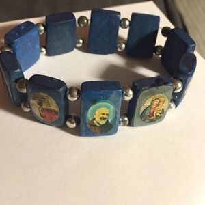 Religious wooden bracelet