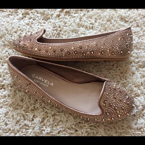 ff504456dd Carvela Kurt Geiger Shoes - Carvela Kurt Geiger Shoes Size 6 Gold Studded  Flat