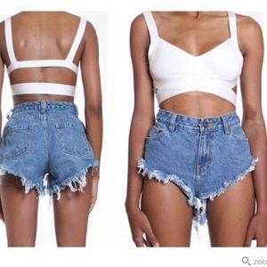 Angle cut shorts