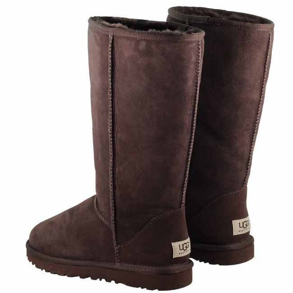 Classic Tall Chocolate Brown Ugg Boots- Women's