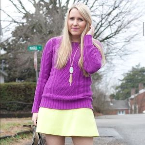 Old Navy Sweaters - Purple cable knit sweater