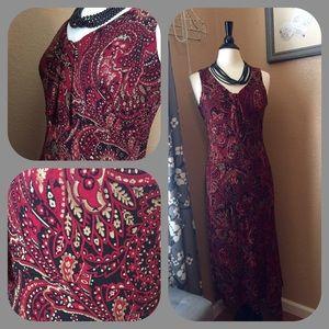 Dresses & Skirts - Paisley print asymmetrical hem sheath dress