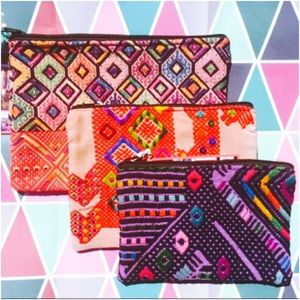 Ketzali Handbags - Ketzali Recycled Textile Zippered Bag Pouch