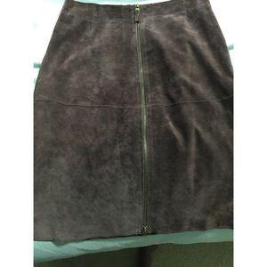 Isaac Mizrahi for Target Brown Suede  skirt