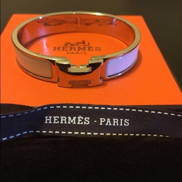 16 hermes accessories white hermes clic clac bracelet from s closet on poshmark