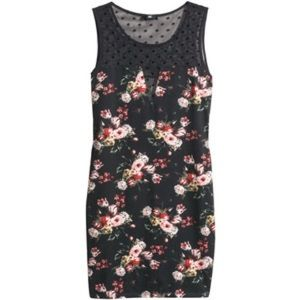 H&M fitted lace floral dress size small