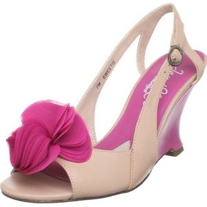 NWT Jen + Kim for Coloriffics Sweetie Pink Wedge