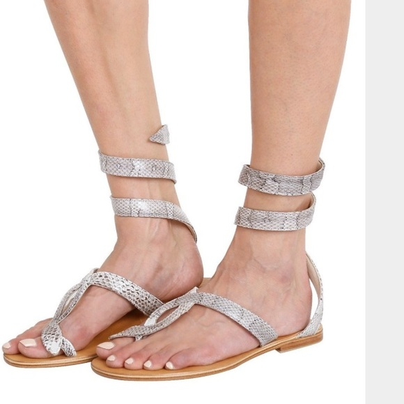 60ce88190b8916 L Space by Cocobelle Snake Wrap Sandal