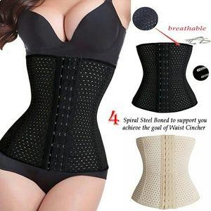 4 steel boning waist trainer cincher