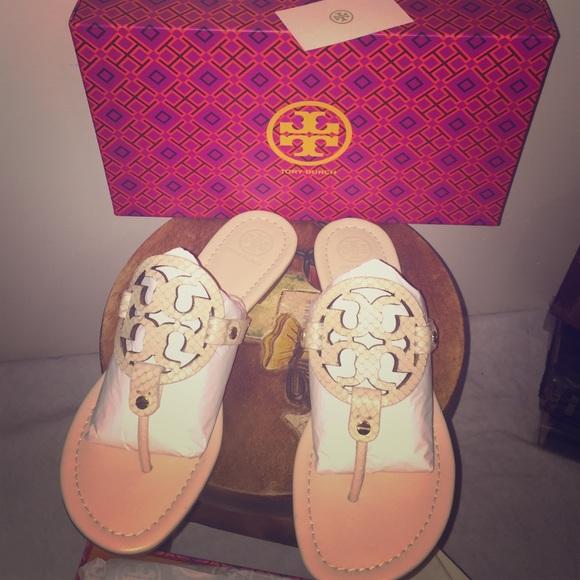 2f8d7725cf4e Dulce De Leche Tory Burch Miller Sandals