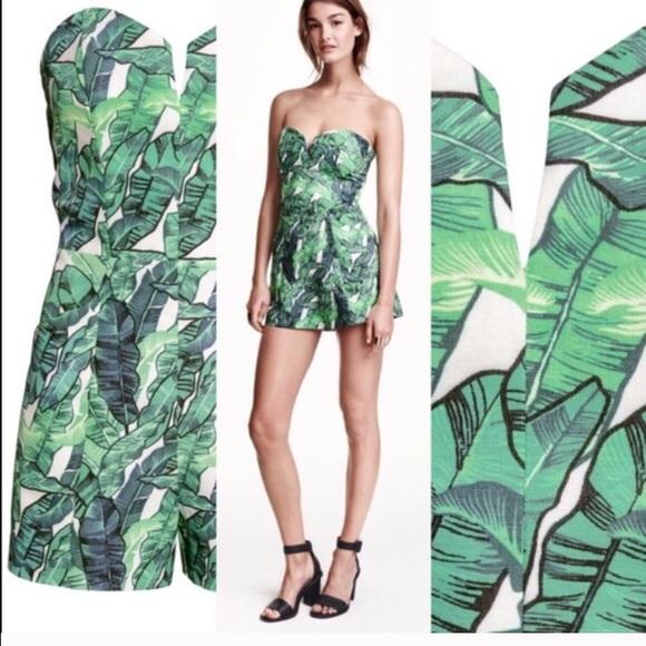 383eb68c5a42 H M Pants - H M floral romper  jumpsuit conscious collection
