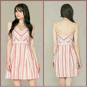 FLYING TOMATO Candy Coated fit and flare dress