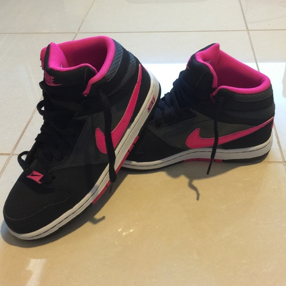 pink and black nike high tops Shop