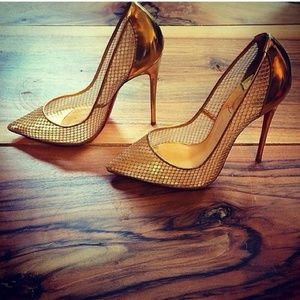 Authentic gold Christian Louboutin heels