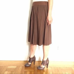 Theory Dresses & Skirts - Theory Brown A-line Pleated Skirt