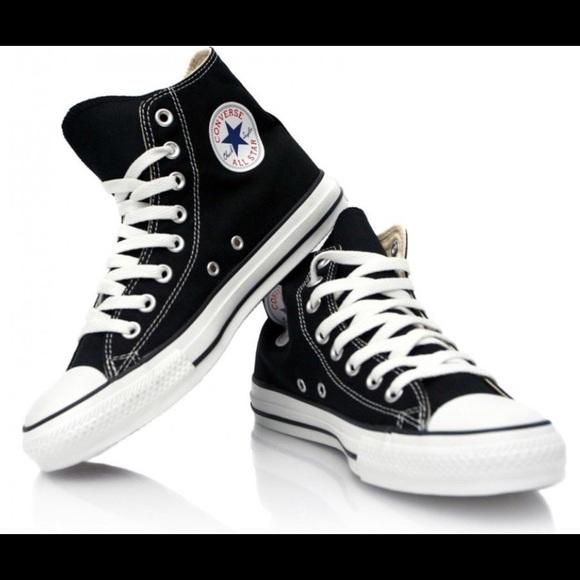 Converse Shoes | High Top Black Size 8