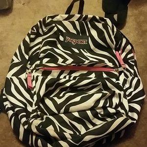 Zebra Jansport backpack