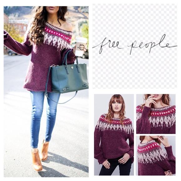 41% off Free People Sweaters - Free People Baltic Fair Isle ...