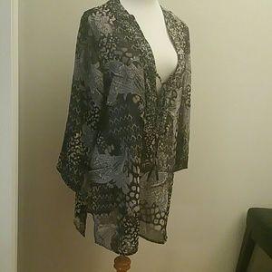 b4d0defc4d571 Raviya Swim - NWT Plus Size Printed Beaded Tunic Cover Up