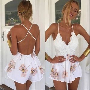 empathylove Other - 💐Just in💐Floral backless summer playsuit dress