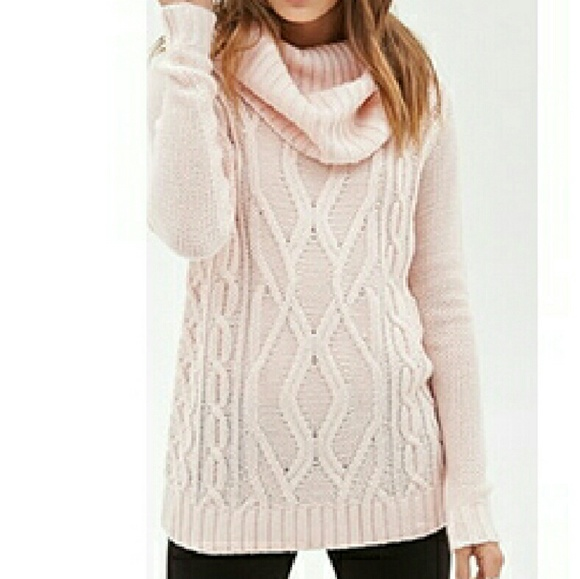 72% off Forever 21 Sweaters - !bogo! Light pink turtleneck sweater ...