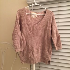 H&M tan knit sweater