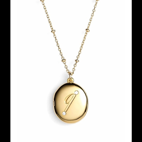 kate spade initial necklace q