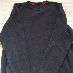Men's large Banana Republic charcoal gray sweater.