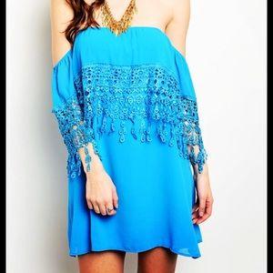 ❗️Floral Lace Cape Slip Dress