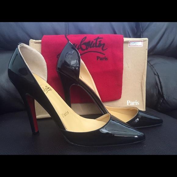 b4e8a1e78134 Christian Louboutin Shoes - Christian Louboutin Black Patent Leather Heels